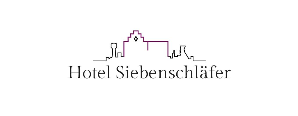 Christine Sperle – Logodesign, weiß – Hotel Siebenschläfer Alsdorf