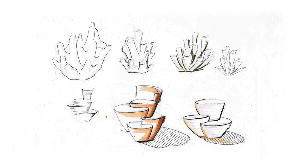 Christine-Sperle-Produktdesign-Messestand-Skizzen