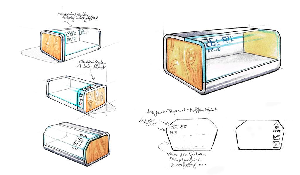 Christine Sperle - Produktdesign - Fermentino - Skizzen